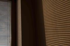 Тень венецианских шторок на стене Стоковая Фотография