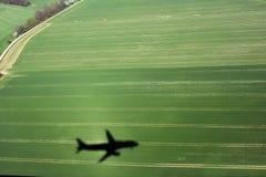 Тень воздушных судн стоковые фотографии rf