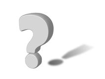 тень вопросе о восклицательного знака 3d Стоковые Фотографии RF