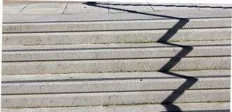 Тень зигзага на конкретных шагах Стоковые Изображения