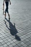 Тень красивого танцора Стоковое Фото