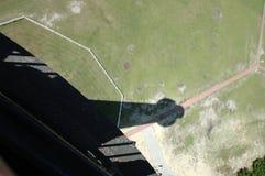 Тень маяка Гаттераса накидки Северной Каролины стоковое фото