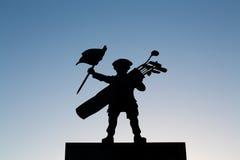 Тень мальчика гольфа Стоковое Фото