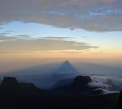 Тень над горами Стоковое Фото