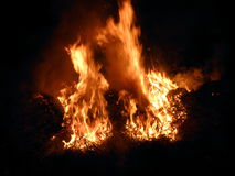 Тень на огне Стоковые Фото