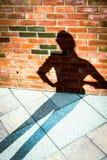 Тень на стене 9 стоковая фотография