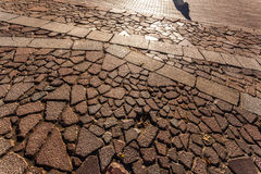 Тень незнакомца на дороге Стоковые Фотографии RF