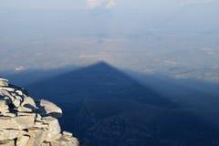 Тень пирамиды Стоковая Фотография RF