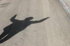 Тень победы Стоковое Изображение RF