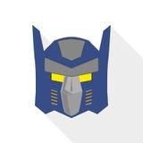 Тень плоского дизайна маски супергероя длинная Стоковые Фотографии RF