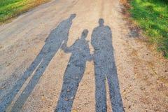 Тень семьи Стоковые Изображения