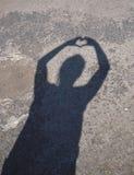 тень сердца Стоковые Фото