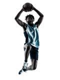 Тень силуэта баскетболиста изолированная человеком Стоковое фото RF
