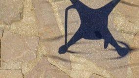 Тень трутня на том основании, надземный вид с воздуха Стоковые Изображения RF