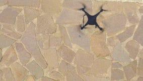Тень трутня на том основании, надземный вид с воздуха Стоковое Фото