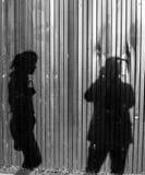 Тень фотографа и женщины Стоковое Изображение RF