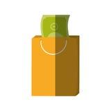 Тень цвета денег подарка сумки Стоковое Изображение RF