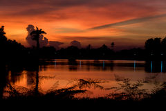 Тень цвета на небе Стоковое Фото