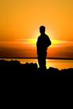 тень человека Стоковое Изображение