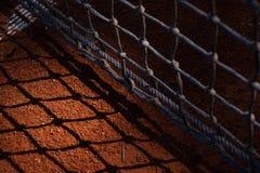 Тень ясности отливки тенниса сетчатая стоковое фото