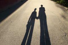 тень дороги Стоковая Фотография
