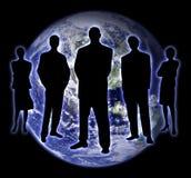 тень 2 людей земли Стоковые Изображения RF