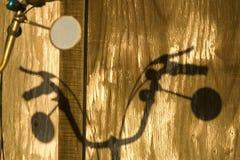 Тень Handlebars велосипеда стоковое фото