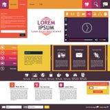 Тенденция дизайна шаблона вебсайта плоская Стоковая Фотография RF
