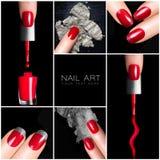 Тенденция искусства ногтя установленные sciccors процедуре по ногтя manicure красотки Стоковое фото RF