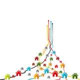 Тенденция рынка дома иллюстрация штока