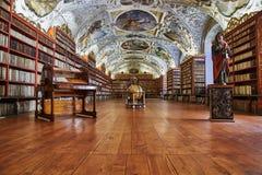 Теологический Hall; Монастырь Strahov, Прага Стоковые Фото