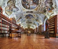Теологический Hall; Монастырь Strahov, Прага Стоковые Фотографии RF