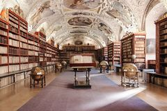 Теологический Hall монастыря Strahov Стоковые Фотографии RF
