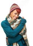 Теплая женщина зимы Стоковое Изображение RF