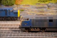 Тепловозные электрические модельные двигатели железной дороги поезда стоковые фотографии rf