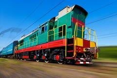 тепловозный высокоскоростной поезд Стоковое фото RF