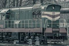 Тепловозный локомотив груза Стоковое Изображение RF