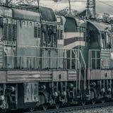Тепловозный локомотив груза Стоковое Изображение
