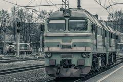 Тепловозный локомотив груза Стоковая Фотография