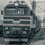 Тепловозный локомотив груза Стоковые Изображения RF