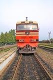 тепловозный паровоз старый Стоковое фото RF