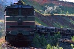 тепловозный паровоз Стоковая Фотография