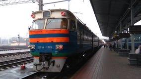 Тепловозный поезд в железнодорожном вокзале Бреста Стоковая Фотография RF