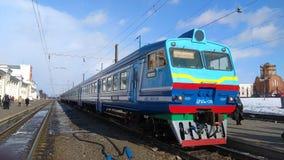 Тепловозный поезд на станции Orsha Стоковая Фотография RF