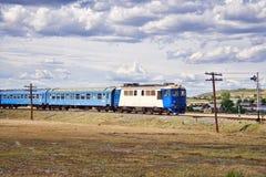 тепловозный поезд Стоковые Фото