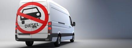 Тепловозный управляя знак запрета на транспортере с немецким текстом иллюстрация штока
