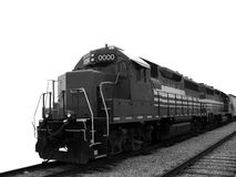 Тепловозный электрический паровоз перевозки на следах поезда Стоковое Изображение RF