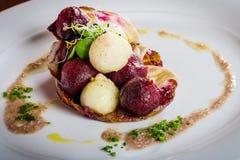Теплый салат сельдерея и бураков 02 Стоковое фото RF