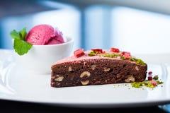 Теплый торт пирожного Стоковые Изображения