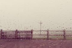 Теплая винтажная предпосылка конспекта падения воды Стоковые Изображения RF